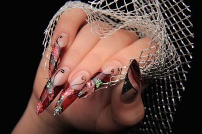 Faux ongles en resine acrylique